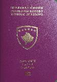 Passport cover of Kosovo