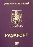 Passport cover of Romania