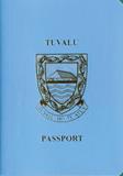 Passport cover of Tuvalu