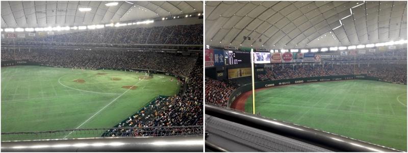 Tokyo Dome Seat Views