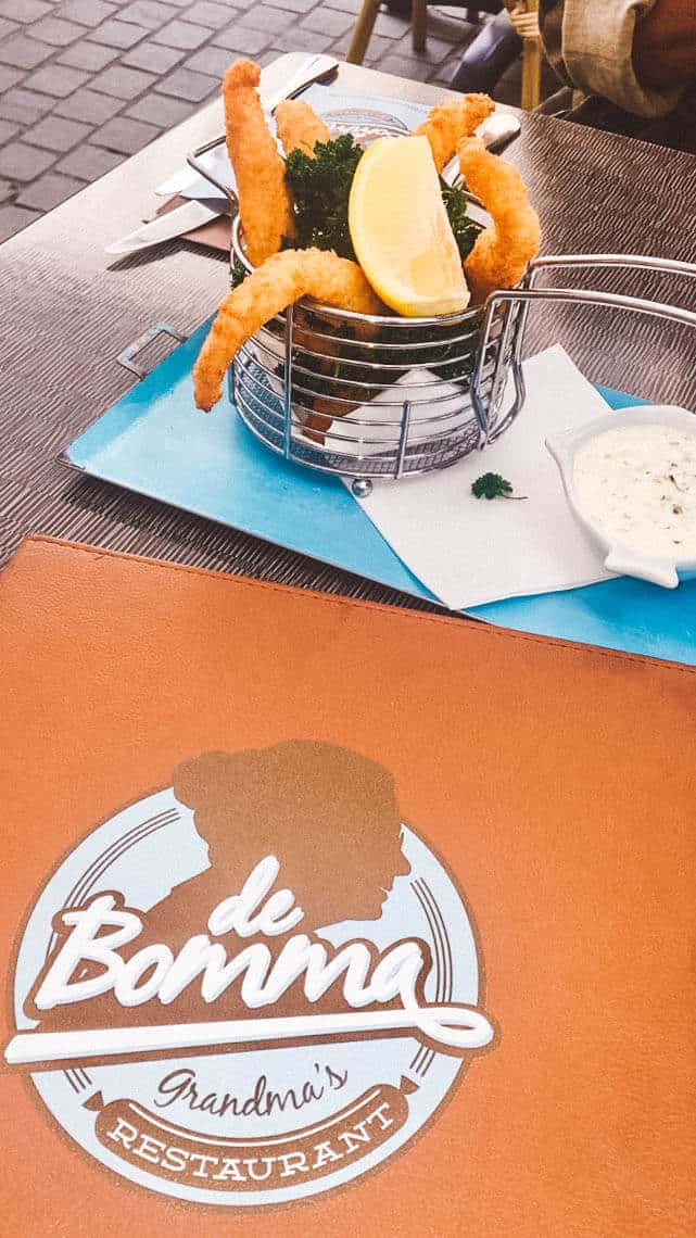food from de bomma restaurant