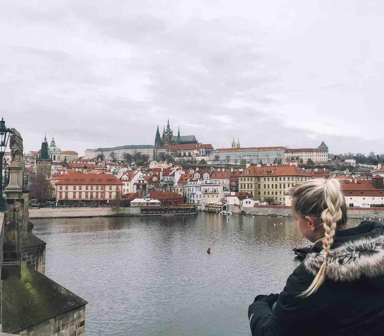 Views of Prague Castle from Charles Bridge