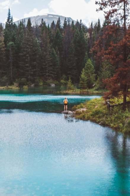 valley of five lakes hike in jasper