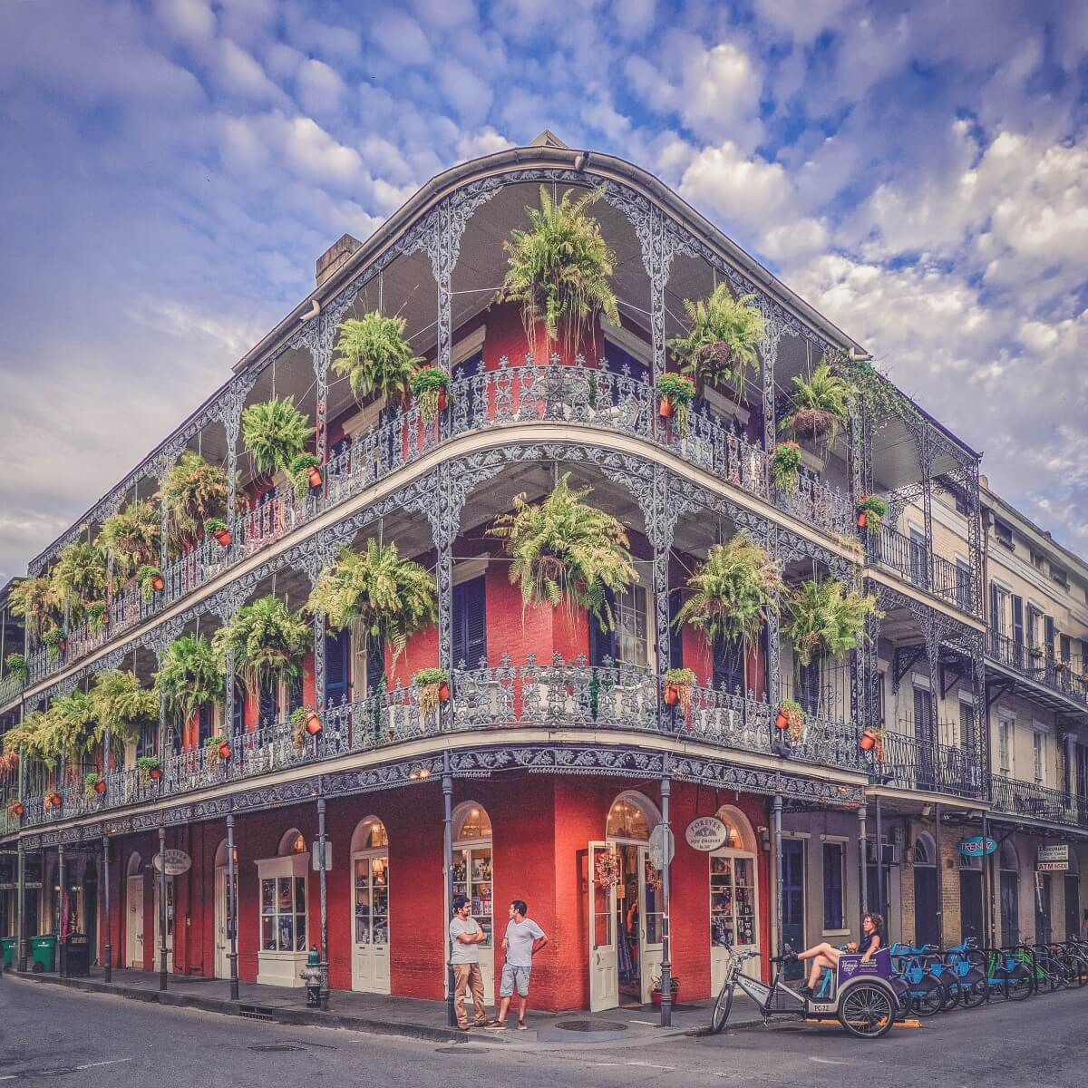 French Quarter in Lousiana, once of the most iconic states to visit