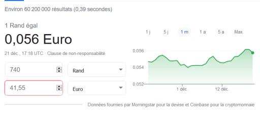 rand en euro
