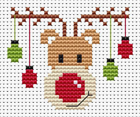 Sew Simple Rudolf Cross Stitch Kit Only 830