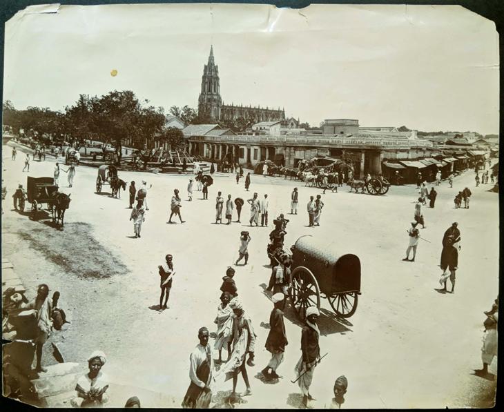 Antique Photo Bangalore Cantonment Area 1880