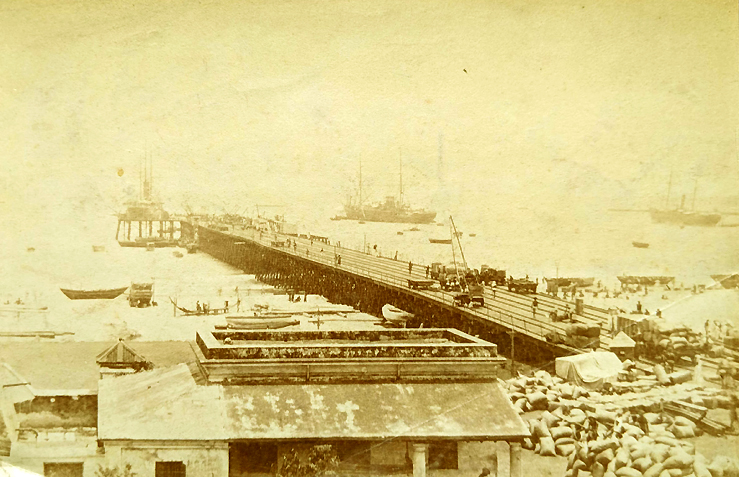 Antique Photo of Madras Iron Pier 1870