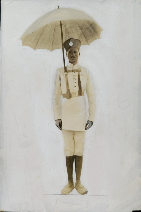 Vintage Photo Calcutta Traffic Policeman 1925
