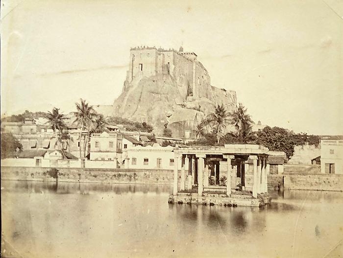 Antique Photo Tiruchirappalli Rock-Fort 1870