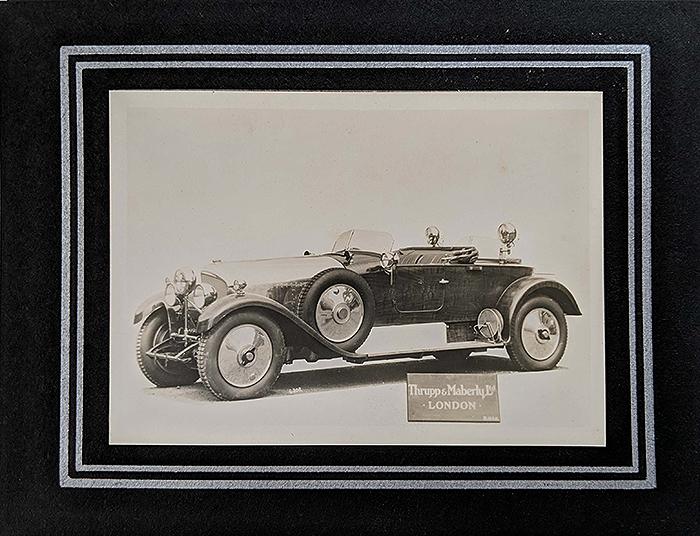 Vintage Photo Nawab Of Bhopal's Hunting Bentley 1926 (#1)