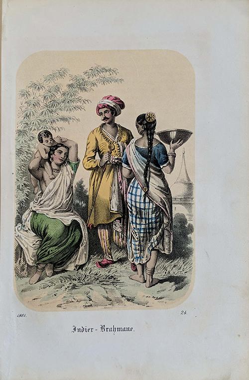 Antique Print India Brahmin Family 1861