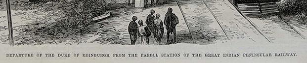 Antique Print Duke Of Edinburgh Departing Bombay Parel Station