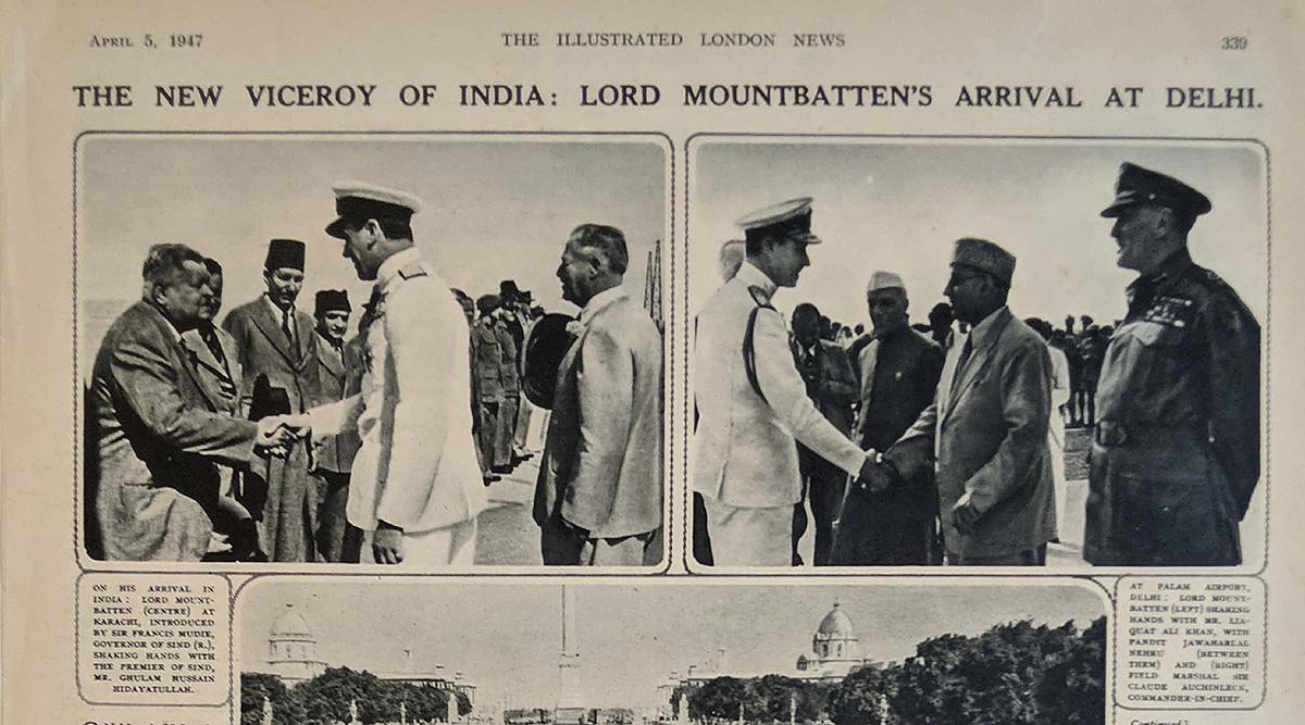 Old Print Delhi New Viceroy Lord Mountbatten