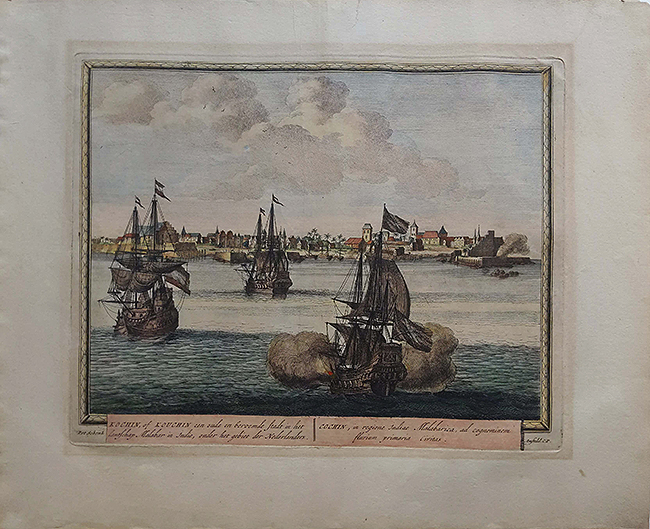 Antique Plan/Map Capture Of Cochin By The Dutch 1702