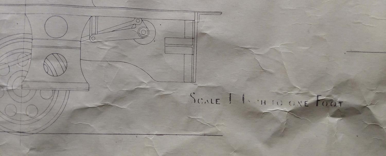 Rare Nilgiri Mountain Railway Steam Locomotive Drawing