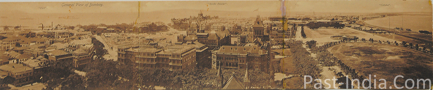 Vintage Rare Postcard Aerial View Of Bombay 1900s