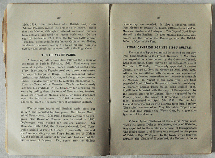 Vintage Book - Madras The Birth Place Of British India 1919