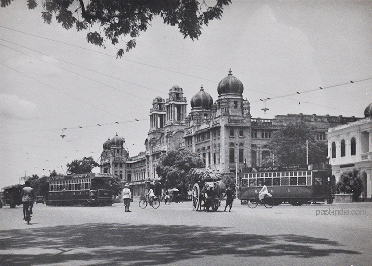 Electric Trams of Madras 1930- Old Photo