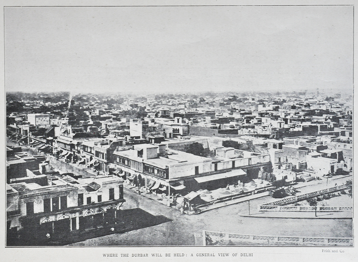 Birds Eye View of Delhi In 1902 - Old Print