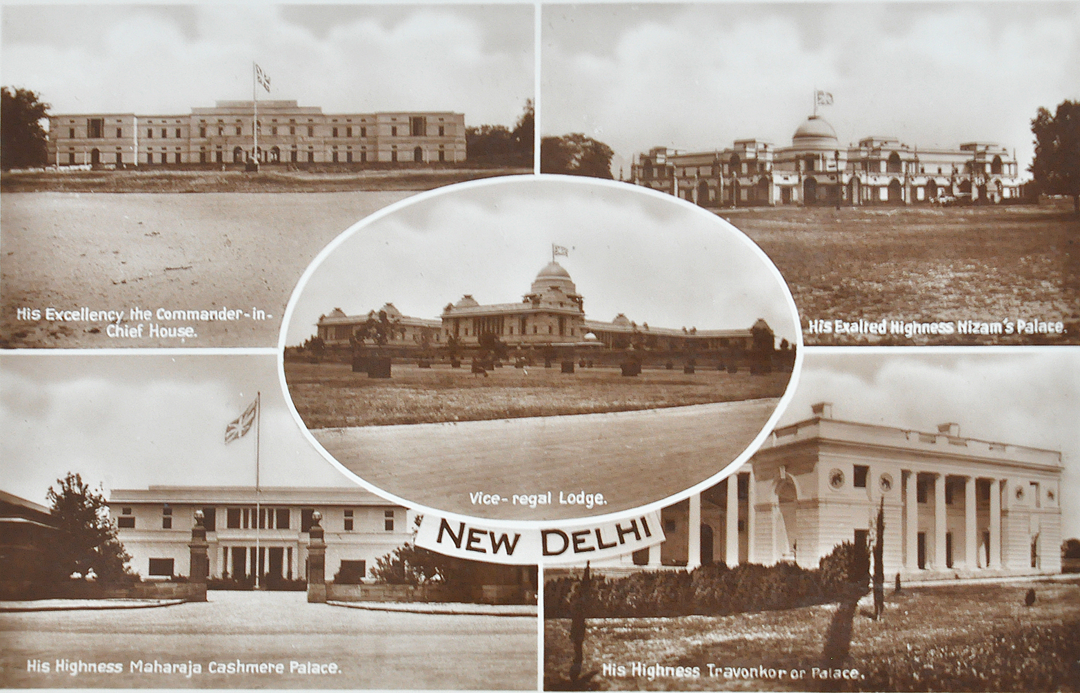 Princely Palaces Of Colonial Delhi - Old Postcard 1939