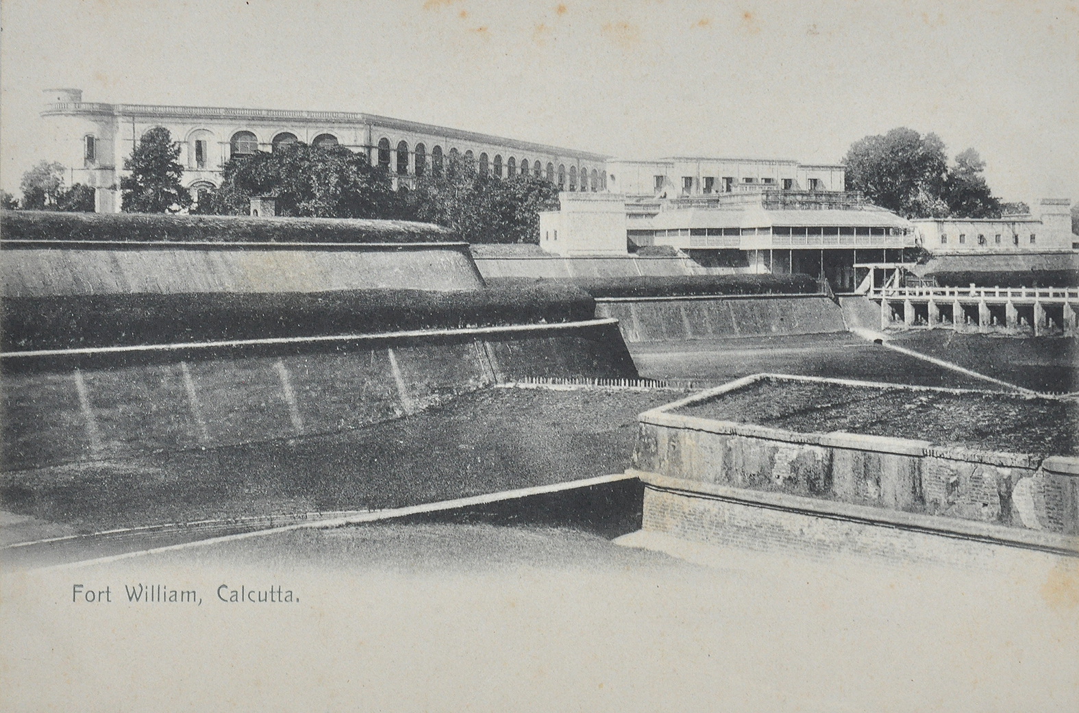 Fort William Calcutta - Old Postcard 1900