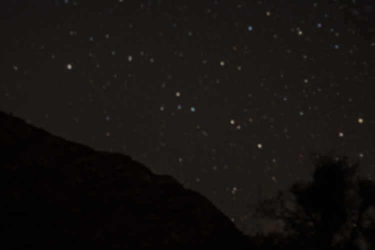 Stars over the Guadalupe Mountains