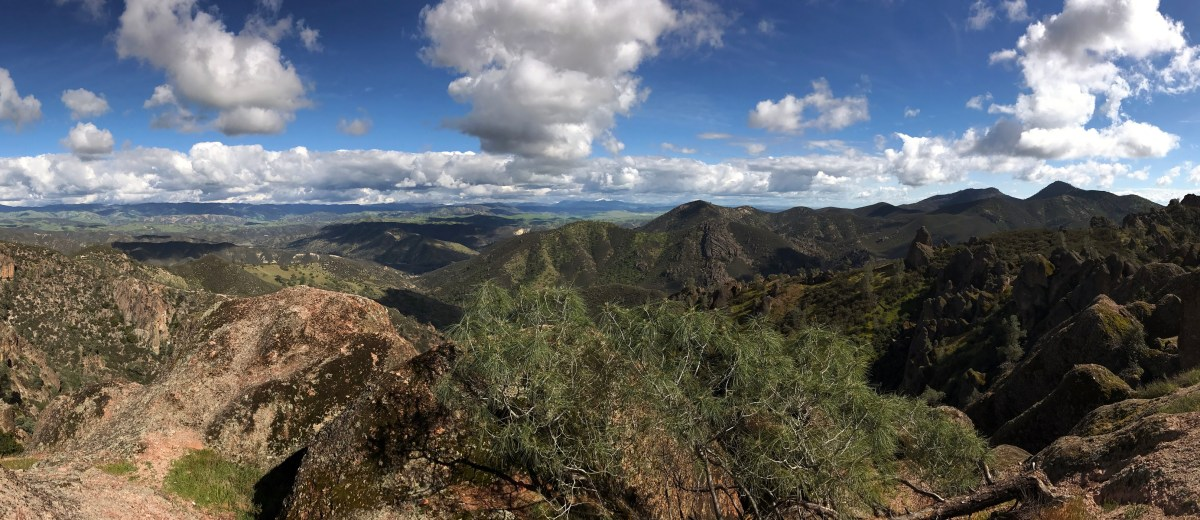 Panorama from the High Peaks at Pinnacles National Park