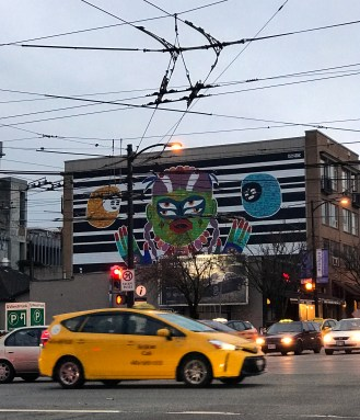 psychedelic graffiti in Vancouver