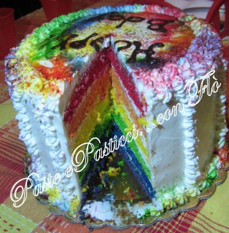 torta rainbow cake