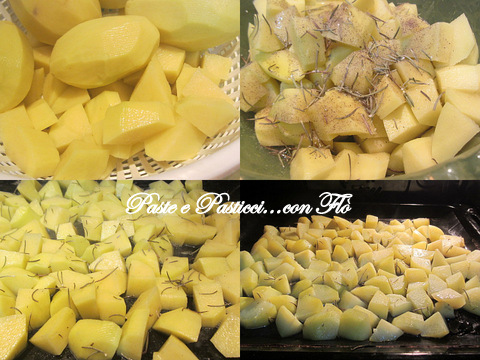 salsiccia al forno con patate al rosmarino