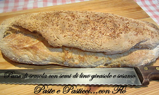 pane misto semola con semi di lino,girasole e sesamo