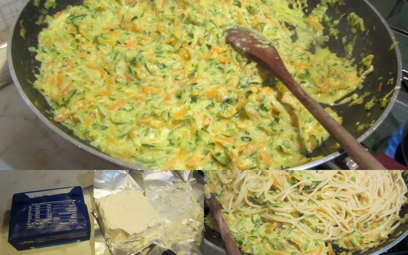 spaghetti tricolore carote zucchine e philadelphia-001