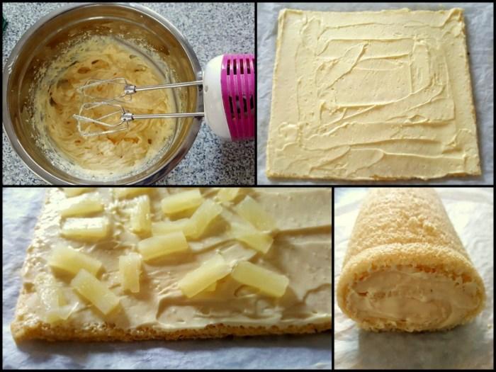 rotolo di mimosa all'ananas