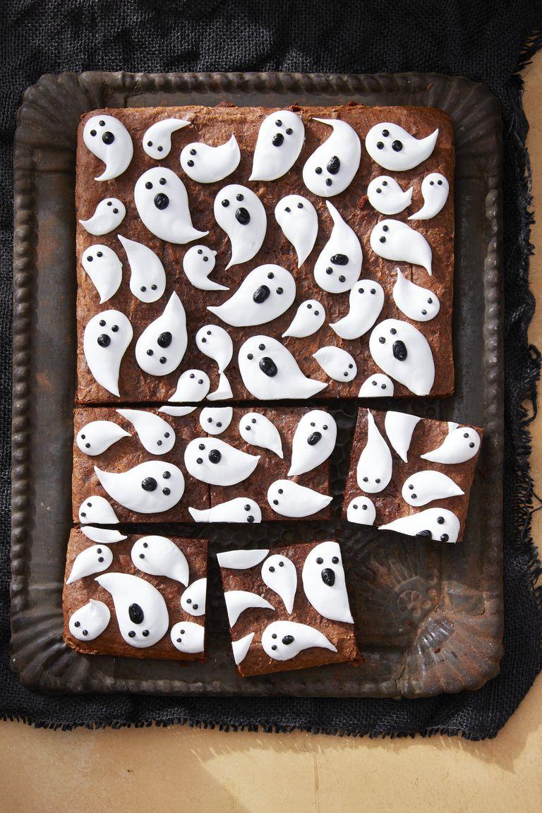 brownies de chocolate de halloween