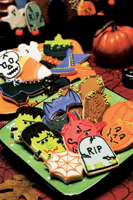 galletas decoradas del día de brujas (halloween)