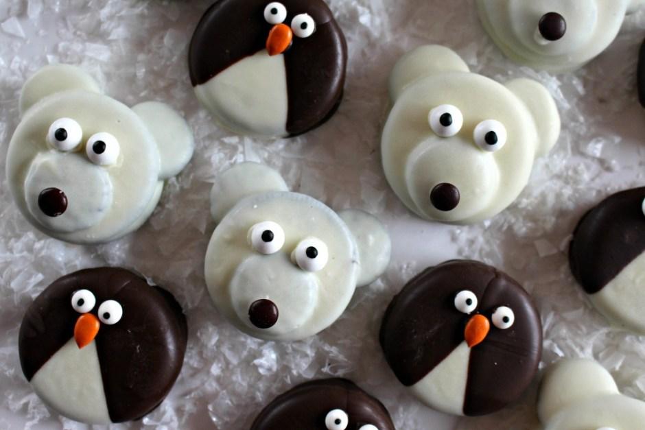 Pinguinos y Osos Polares de Galletas Oreo