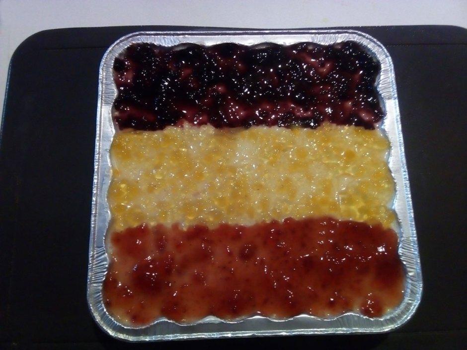 pay frío de piña, fresa y zarzamora