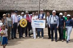 La délégation de la Fondation ROTARY à l'EPP de Saharevo