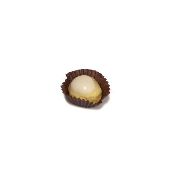 bignola alla crema glassata con cioccolato bianco