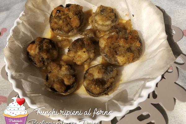 Funghi ripieni al forno