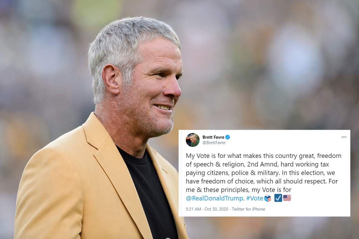 Brett Favre 'Thankful' for Career Full of Head Injuries That Inspired Him to Vote for Trump