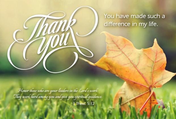 You Preacher Thank Letter