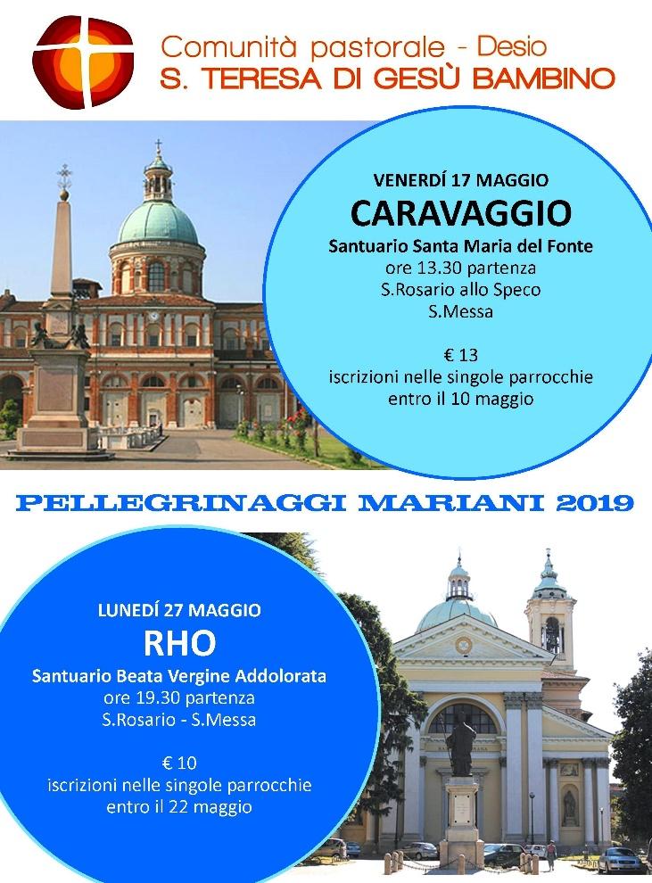 Pellegrinaggio Caravaggio 2019-05 locandina