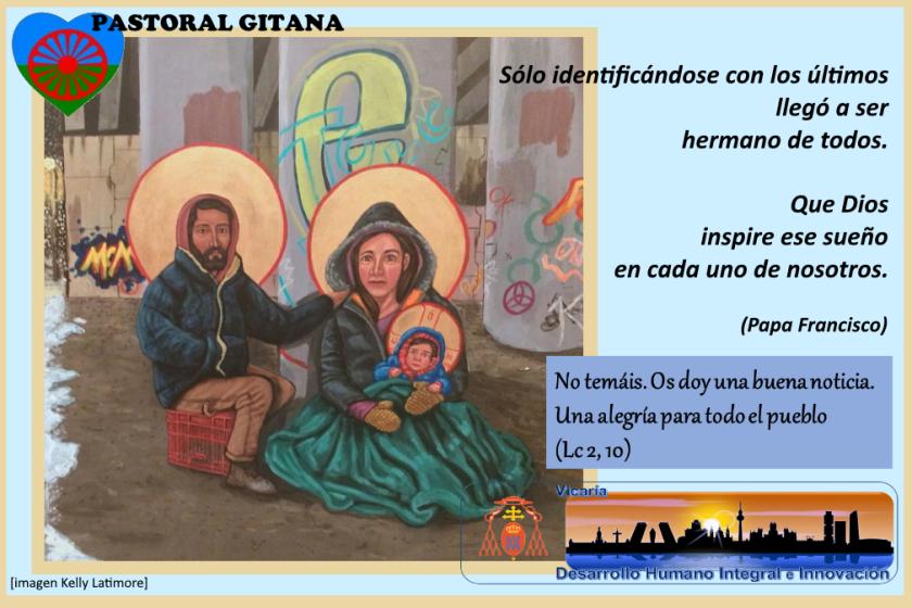 Feliz Navidad. Vicaría Desarrollo Humano Integral e Innovación. Pastoral Social. Madrid. Secretariado de Pastoral Gitana.