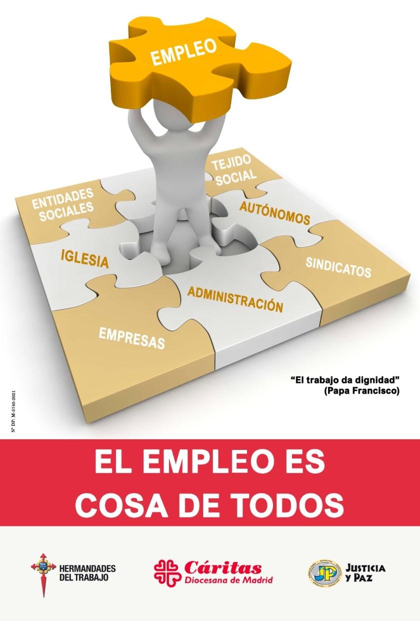 Campaña contra el paro 2021. Cáritas Madrid.