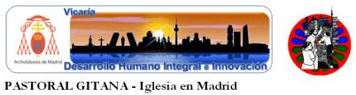 Pastoral Gitana Madrid. Logo largo.