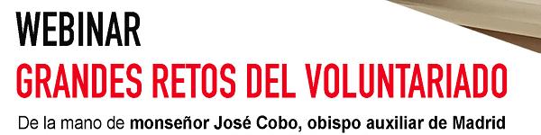 Retos del voluntariado. José Cobo. Seminario en línea. slider