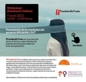 proyecto SPEAKING OUT: #TambienEsTrata