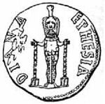 Coin showing Artemis